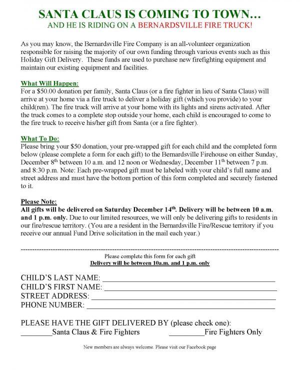 Santa Letter form 2019